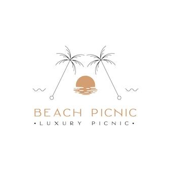 Beach picnic luxury picnic logo design inspiration