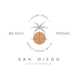 Beach picnic san diego california luxury picnic logo
