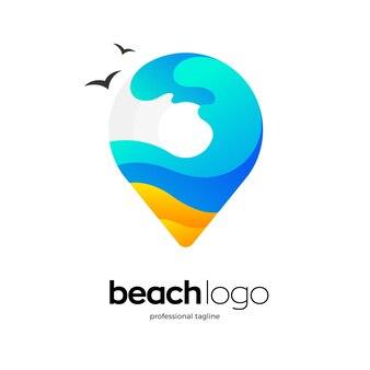 Beach point logo template