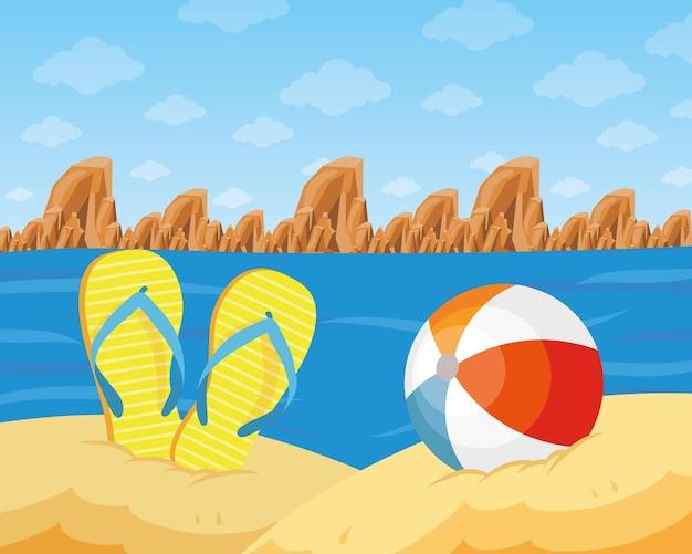 해변 경치 장면
