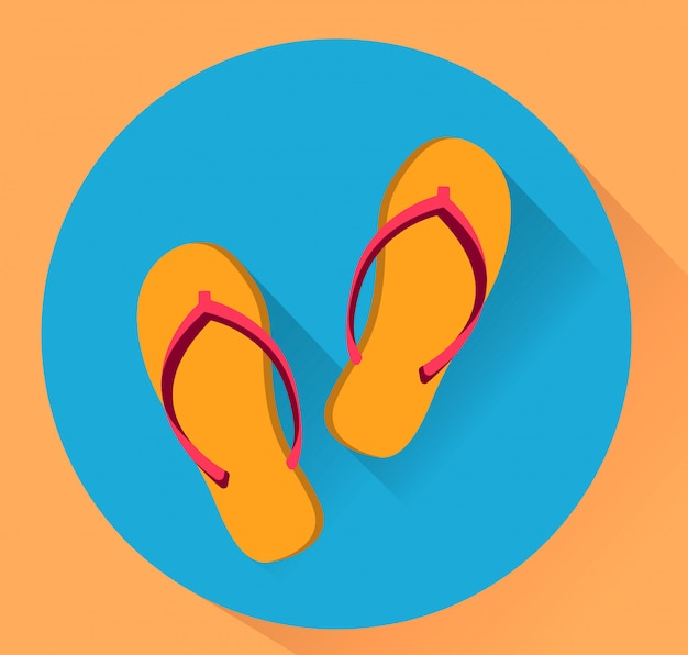 Beach slippers.