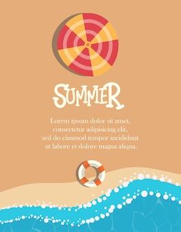 Beach summer design