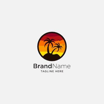 Логотип beach sunset