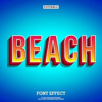 Beach text effect for poster tittle