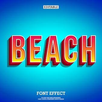 Beach text effect for poster tittle
