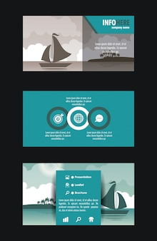 Beach and travel brochure infographic