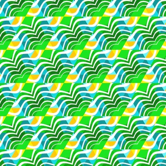 Beach trendy seamless pattern, illustrated triangle vector tropical.