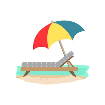 ビーチパラソル&ベッド