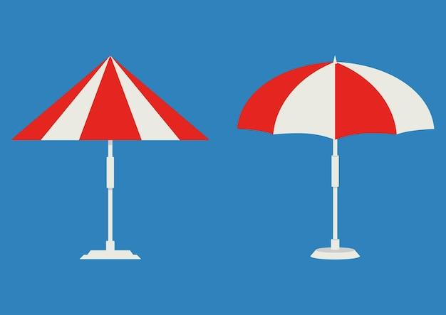 비치 우산 아이소메트릭 파라솔 비치 또는 수영장 우산 색상 아이콘