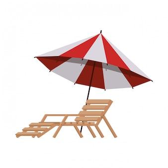 Ombrellone da spiaggia per l'estate a righe