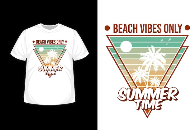 Beach vibes only summer time merchandise silhouette t shirt design