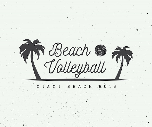 Beach volleyball logo