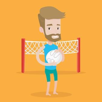 Пляжный волейболист векторные иллюстрации.