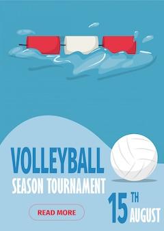 Beach volleyball sport poster