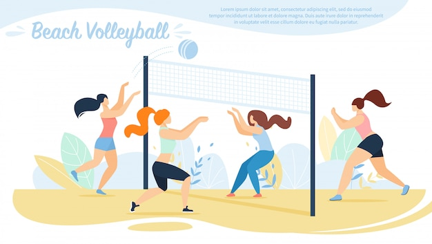 Beach volleyball, sportswomen teams competition,
