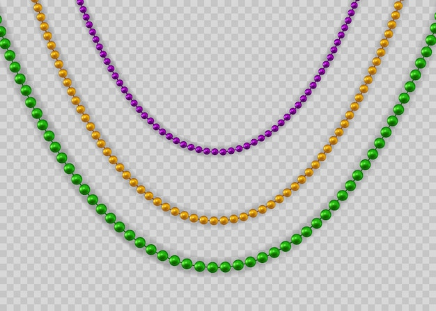 Beads for mardi gras for decoration concept.