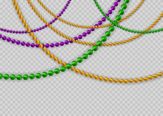 Beads for mardi gras for decoration