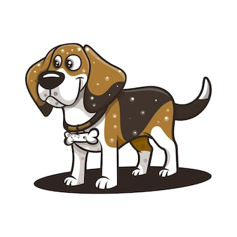 Beagle dog for character, icon, logo, sticker and illustration