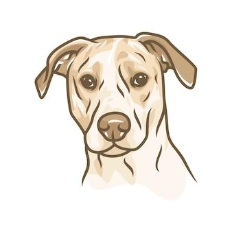 ビーグル犬 - ベクトルロゴ/アイコンイラストマスコット