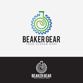 Beaker logo design vector template