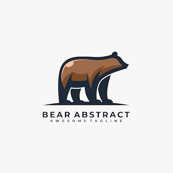 Bear abstract pose illustration.