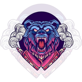 곰 동물 vaping vape 저장소 그림