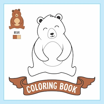 Bear animals coloring pages book