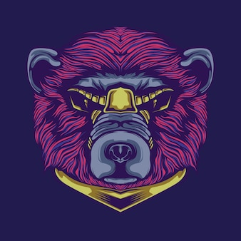 Bear artwork illustration