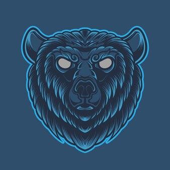 青い背景に分離されたベアブルー