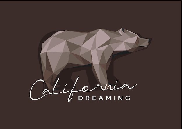 Bear california dreaming illustration
