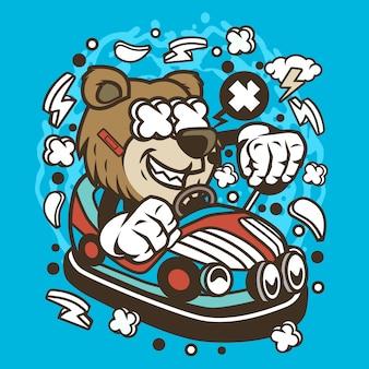Bear car toy cartoon