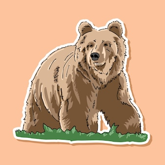 Bear cartoon design