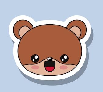 Bear character kawaii