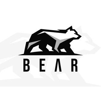 クマの古典的なベクトルのロゴデザイン