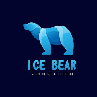 Bear colorful illustration abstract logo design