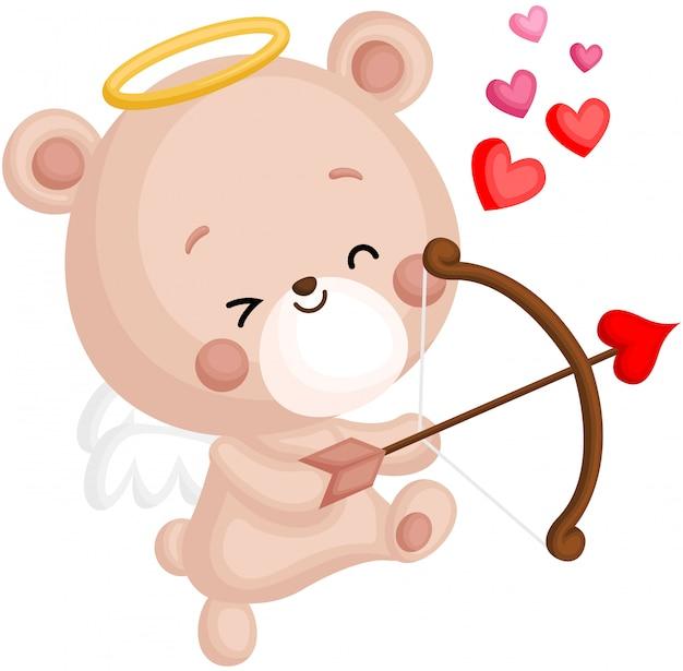 Bear and cupid arrow