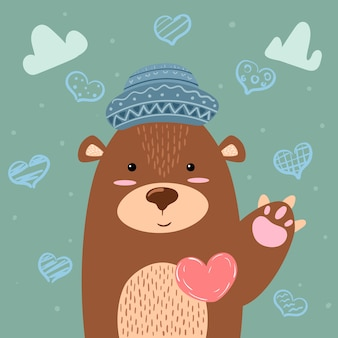 Bear - cute illustration.