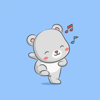 Bear doll dancing with hip hop music