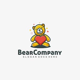 Bear doll love vector template