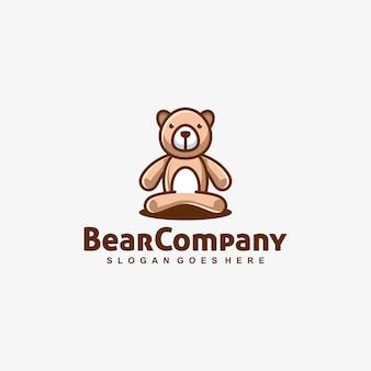Bear doll playful vector template