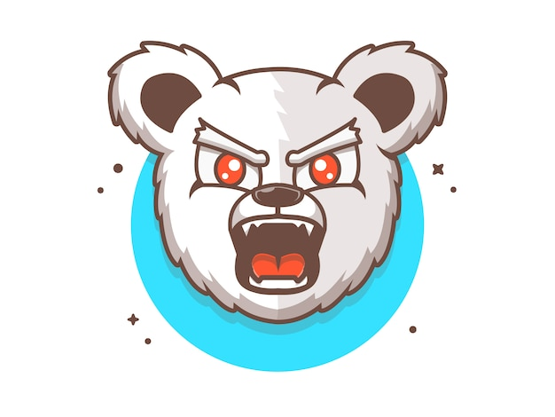 Bear e-sport logo, animal icon concept
