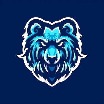 クマeスポーツチームのロゴのテンプレート