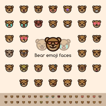 Bear emoji faces
