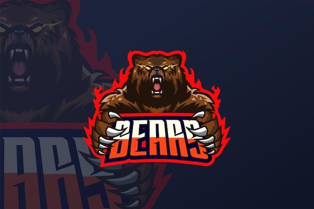 Bear- esport logo template