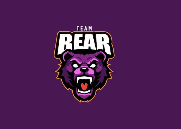 Bear esport team logo design