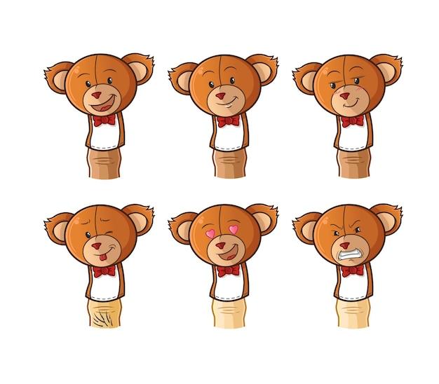 Bear finger doll cartoon.