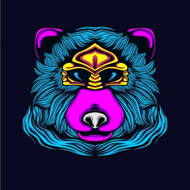 Bear glow in the dark artwork