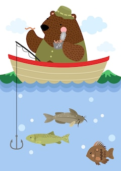 Bear going fishing