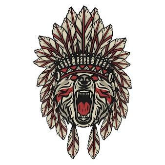 Bear head apache