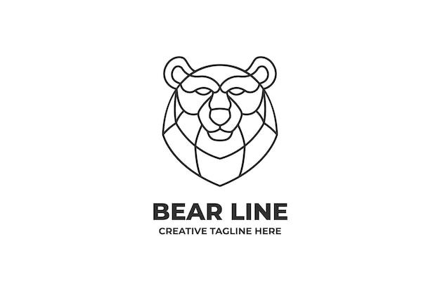 Медведь голова бизнес логотип